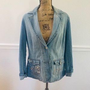 Vintage Together jean rhinestones jean jacket